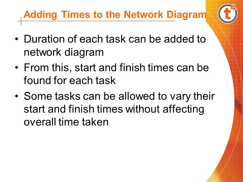 Some Definitions and Terms Terms used for network diagrams: Activity – A task or set of tasks required by the project.