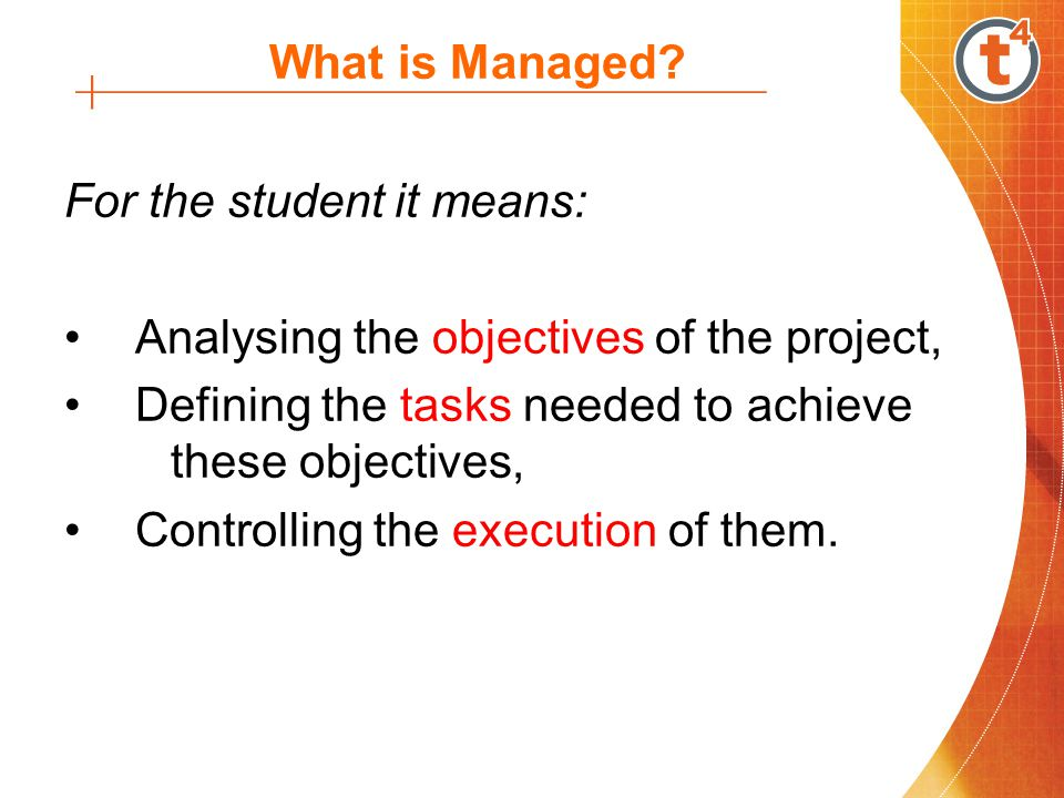 What is Managed. PM focuses on the management of resources and time in a systematic manner.
