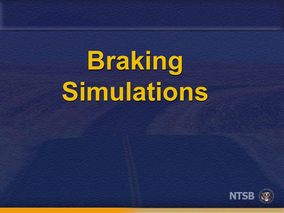 Braking Simulations