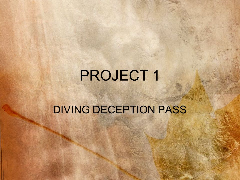 PROJECT 1 DIVING DECEPTION PASS