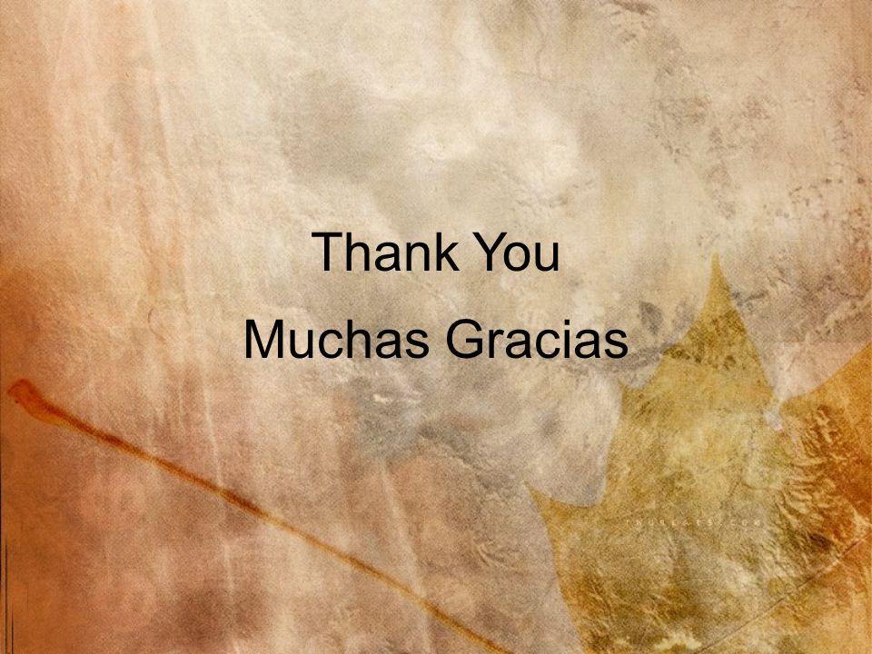Muchas Gracias Thank You