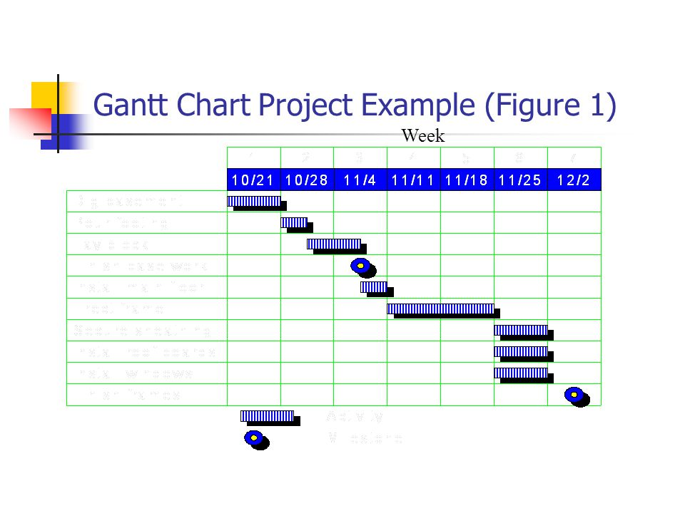 Gantt Chart Project Example (Figure 1) Week