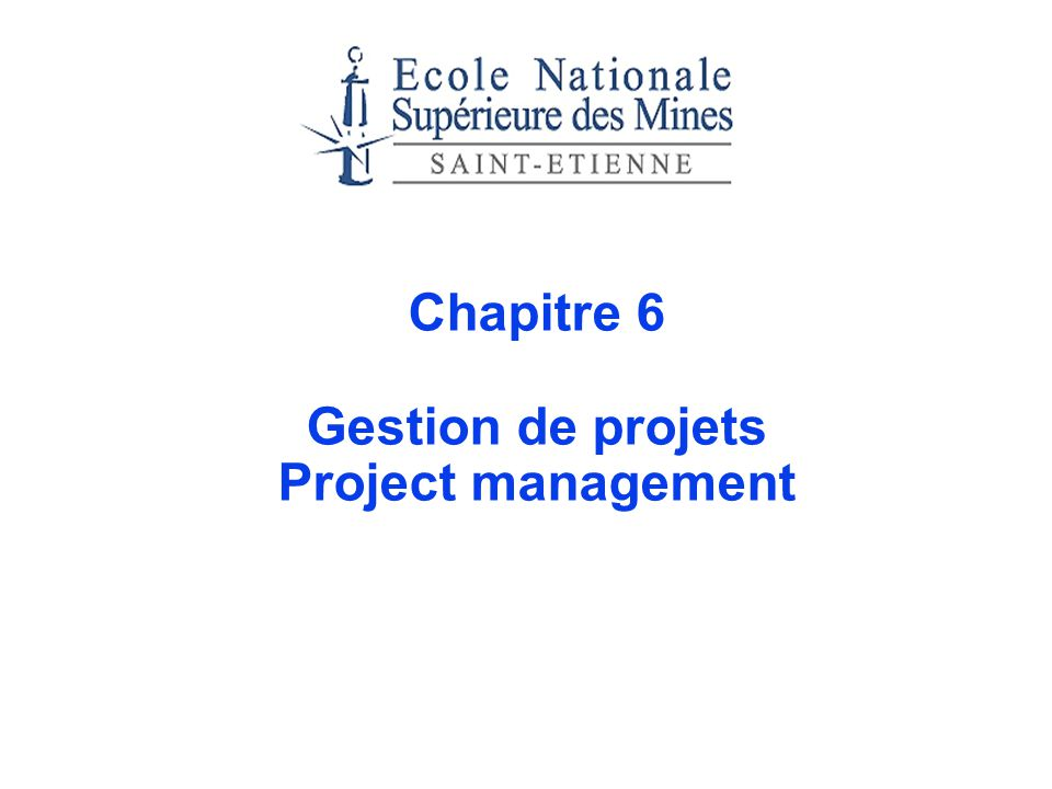 - 2 - Plan Introduction The characteristics of projects The project manager Planning and scheduling projects The Gantt Chart PERT and CPM The Network Critical Path Method (CPM) PERT : probabilistic approach Project compression: trade-offs between time and cost Resource considerations