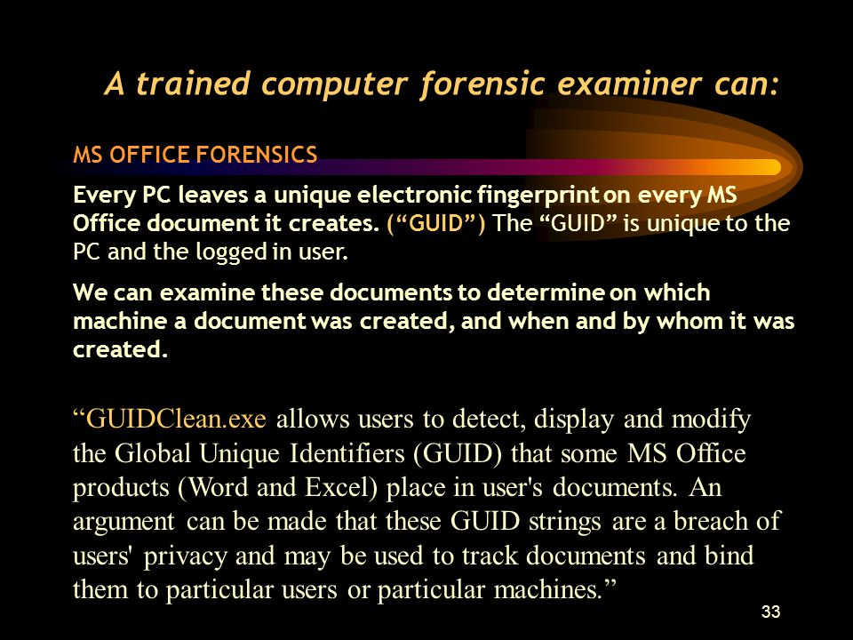 32 MS OFFICE FORENSICS