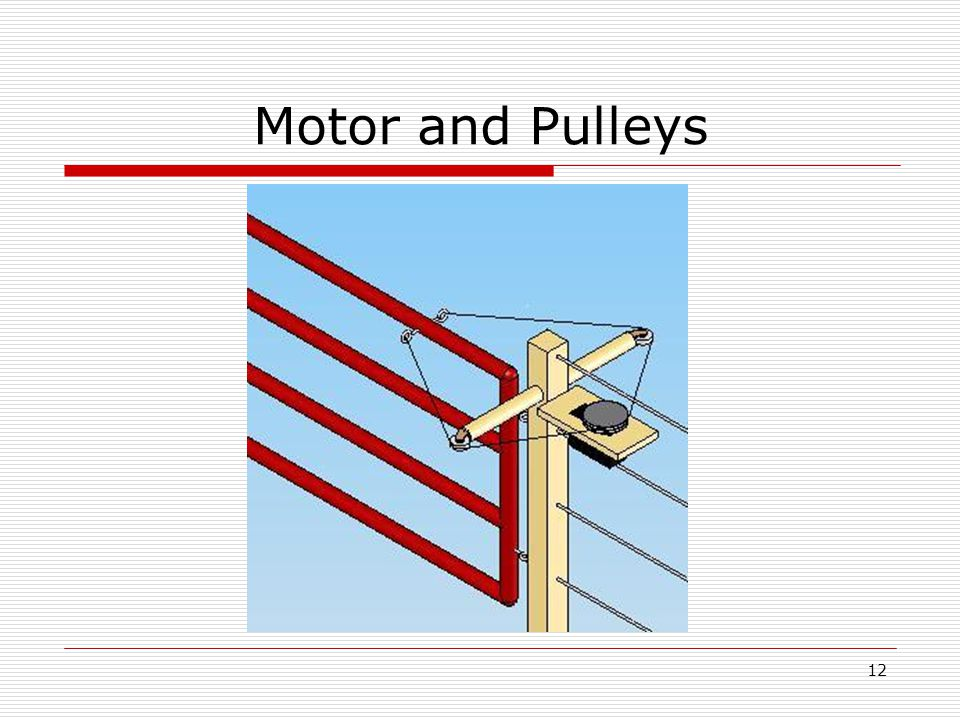 12 Motor and Pulleys