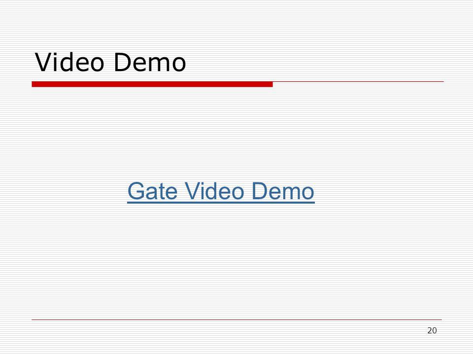 20 Video Demo Gate Video Demo