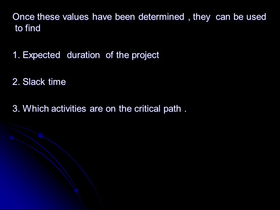 Once these values have been determined, they can be used to find 1.