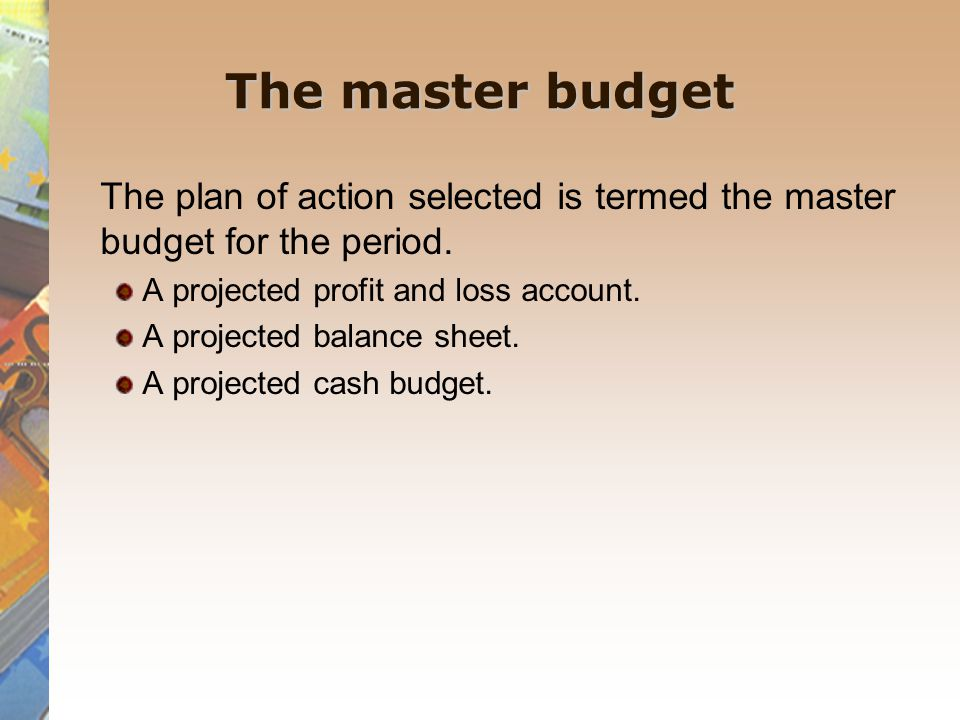 Budgetary planning ' the establishment of objectives, and the formulation, evaluation and selection of the policies, strategies, tactics and action required to achieve them .
