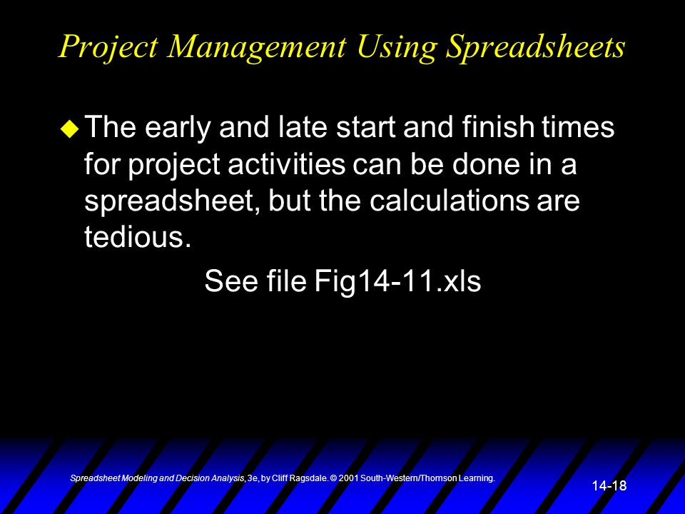 Spreadsheet Modeling and Decision Analysis, 3e, by Cliff Ragsdale.