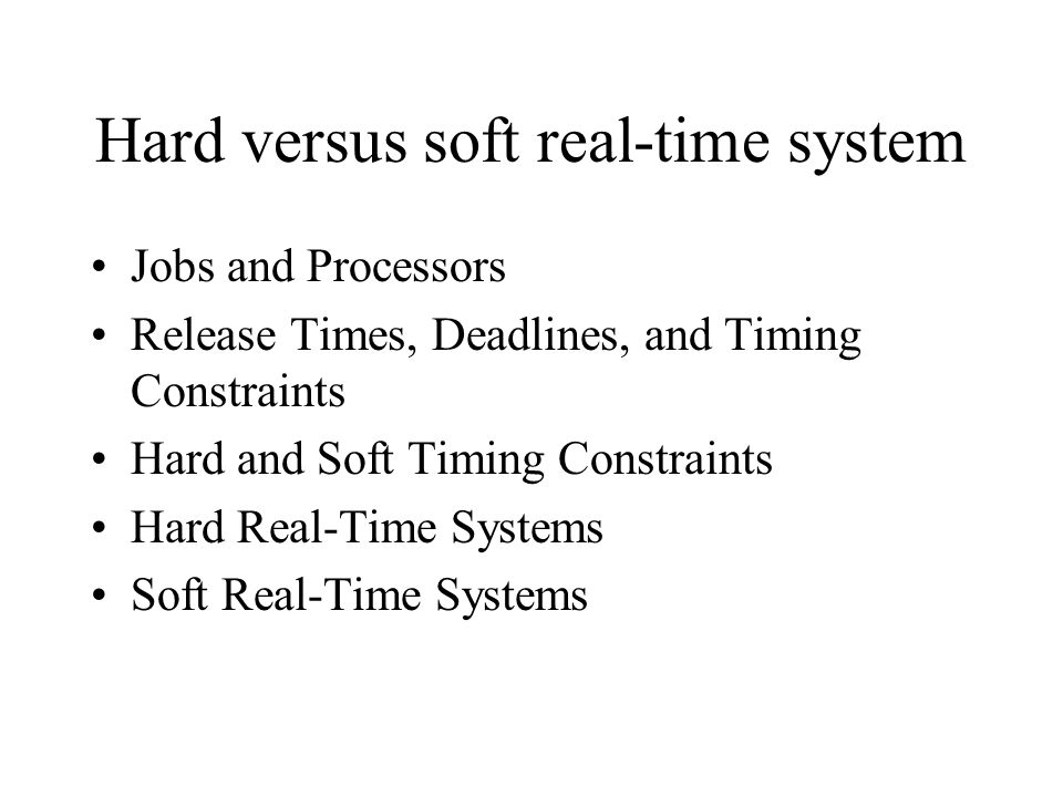 Dynamic versus Static Systems 3 For example we could do a static partitioning of the jobs in our priority-driven scheduling example.