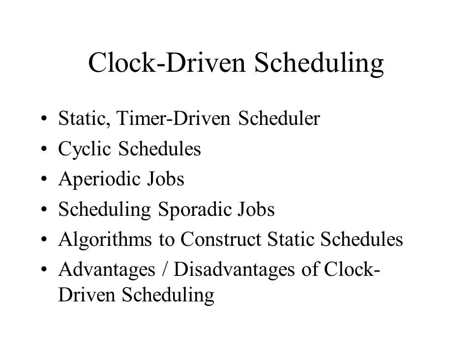 Other scheduling performance measures 3 The lateness of a job is the difference between its completion time and its deadline.