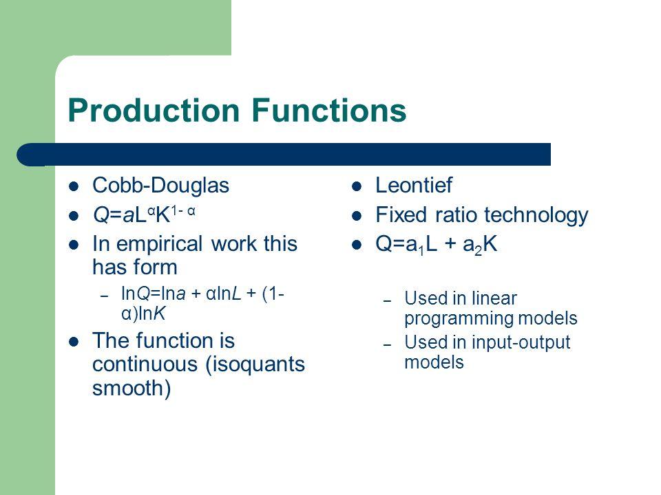 The Cobb-Douglas Function Note we are minimising expenditures in this Lagrangean.