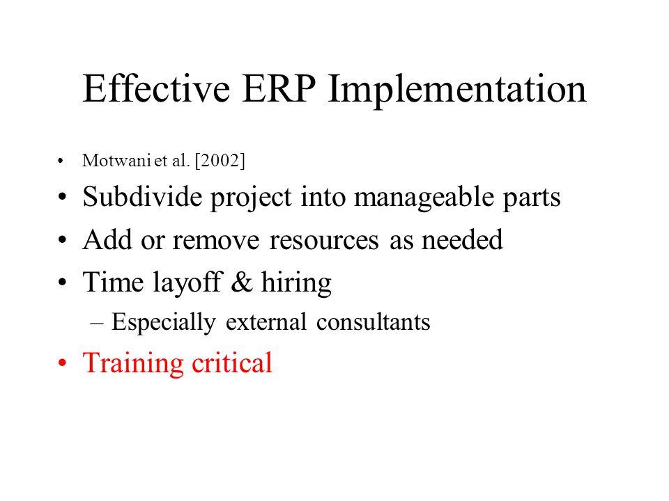 Effective ERP Implementation Motwani et al.