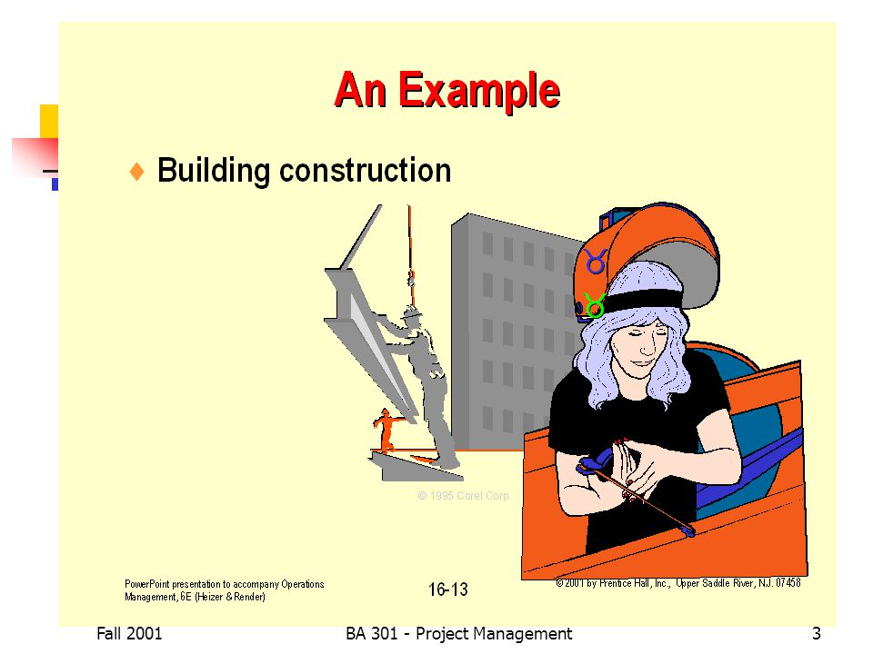 Fall 2001BA 301 - Project Management3