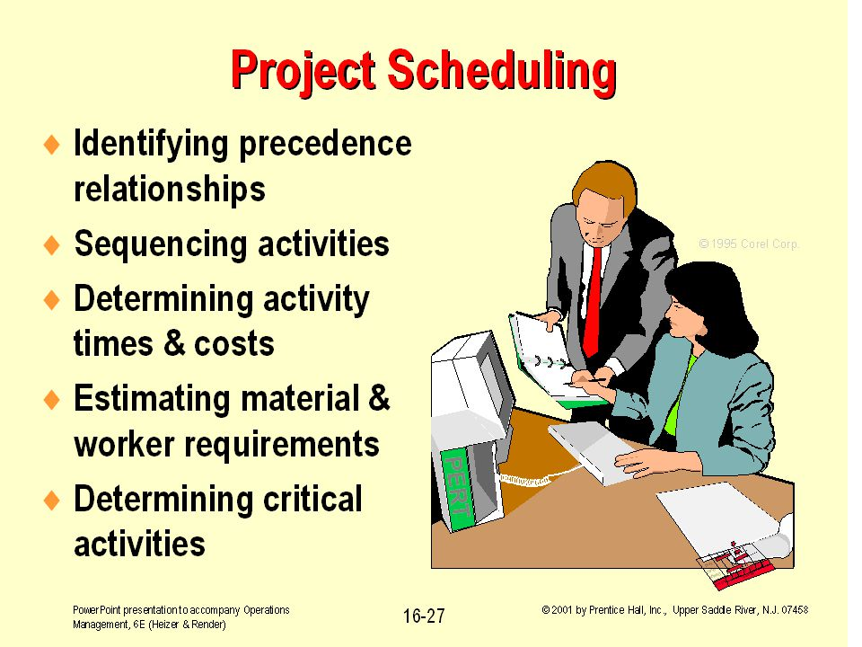 Fall 2001BA 301 - Project Management16