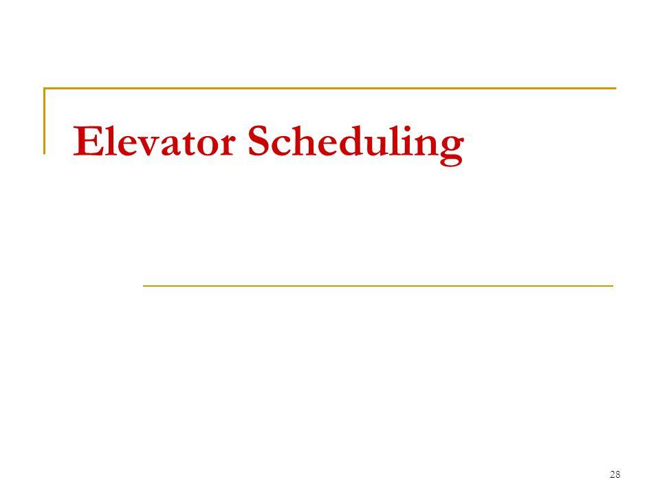 Elevator Scheduling 28