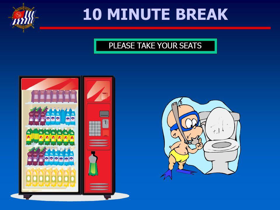 10987654321 10 MINUTE BREAK PLEASE TAKE YOUR SEATS