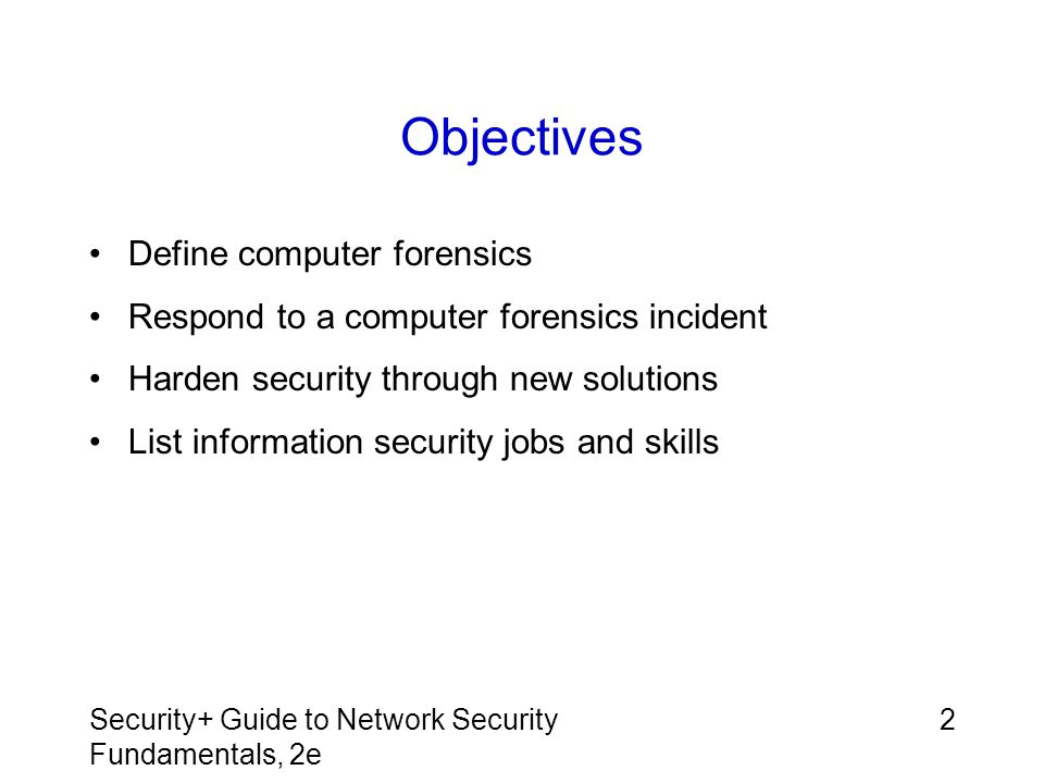 Security+ Guide to Network Security Fundamentals, 2e 23 Intrusion-Detection Systems (IDS) Security professionals should know how to administer and maintain an IDS Capabilities of these systems has increased dramatically since first introduced, making them mandatory for today's networks One problem is that IDS can produce an enormous amount of data that requires checking