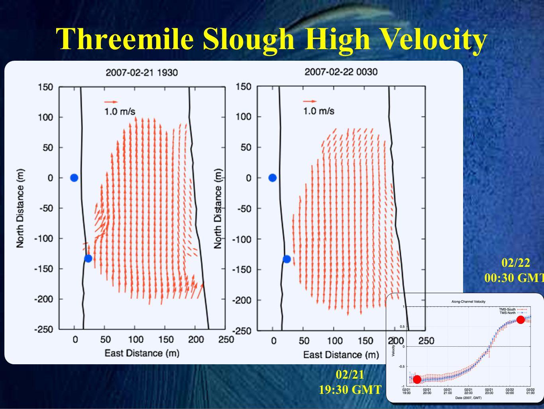 Threemile Slough High Velocity 02/21 19:30 GMT 02/22 00:30 GMT