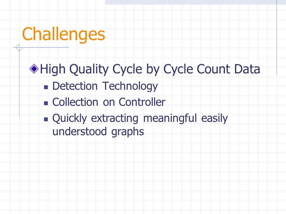 Challenges High Quality Cycle by Cycle Count Data Detection Technology Collection on Controller Quickly extracting meaningful easily understood graphs