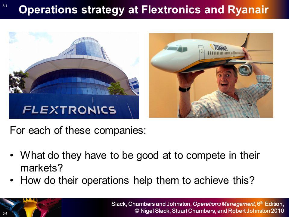 Slack, Chambers and Johnston, Operations Management, 6 th Edition, © Nigel Slack, Stuart Chambers, and Robert Johnston 2010 3.3 Key operations questions In Chapter 3 – Operations strategy – Slack et al.