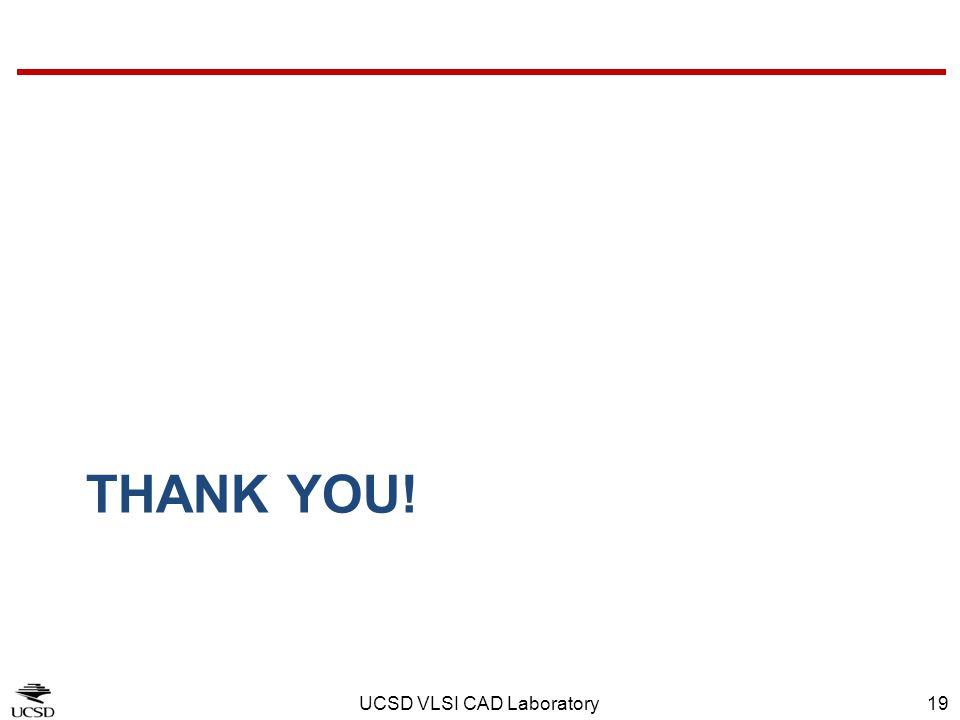 UCSD VLSI CAD Laboratory19 THANK YOU!