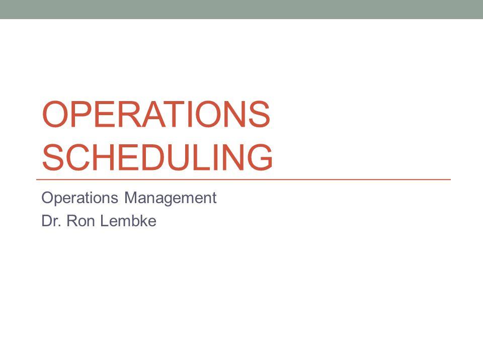 Kinds of Scheduling Job shop scheduling Personnel scheduling Facilities scheduling Vehicle scheduling Vendor scheduling Project scheduling Dynamic vs.