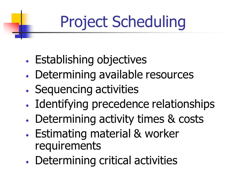 Activity Relationships 2-4 and 3-4 must be done before 4-5 can start 2 3 4 1 5