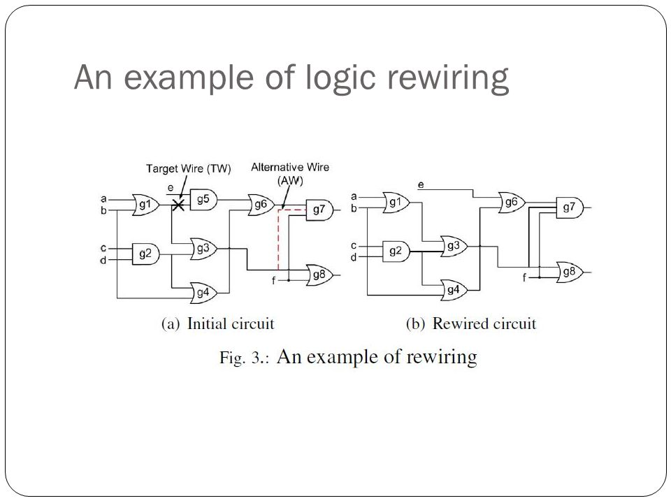 An example of logic rewiring