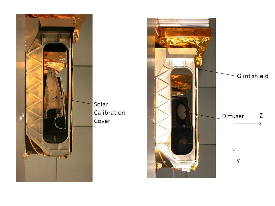 Z Y Glint shield Diffuser Solar Calibration Cover