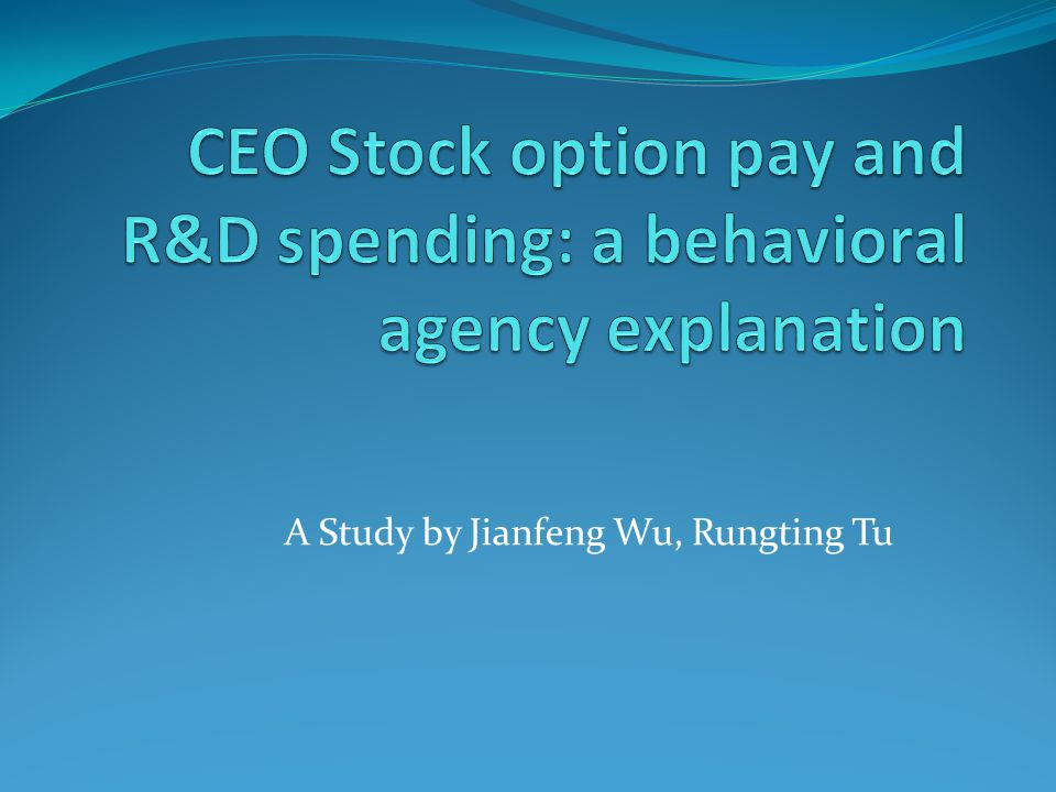 Implications In line with agency theory, providing stock-option benefits to outside directors does in fact provide an incentive for outside directors to be more involved in the firm's strategic decisions In particular, it will decrease directors' aversion to risk, thus increasing potential investment in R&D and future firm value