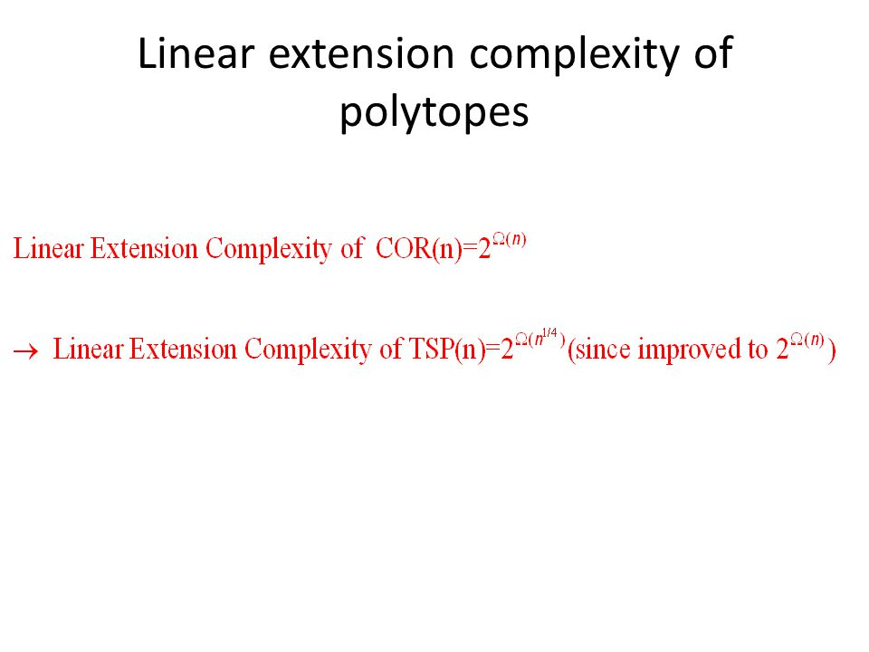 Linear extension complexity of polytopes