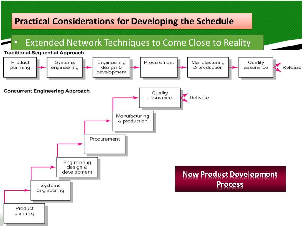 إدارة المشروعات – د. باسم الحلوانى 10 Practical Considerations for Developing the Schedule Extended Network Techniques to Come Close to Reality