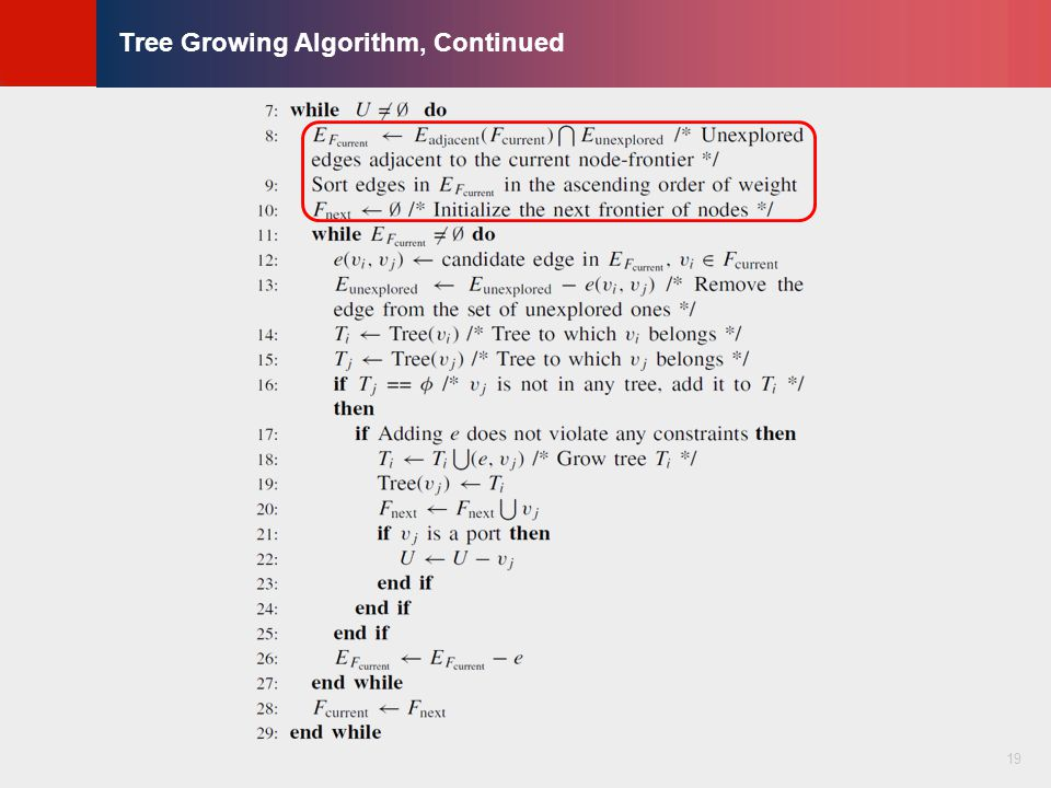 © KLMH Lienig Tree Growing Algorithm, Continued 19