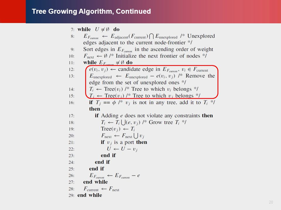 © KLMH Lienig Tree Growing Algorithm, Continued 20