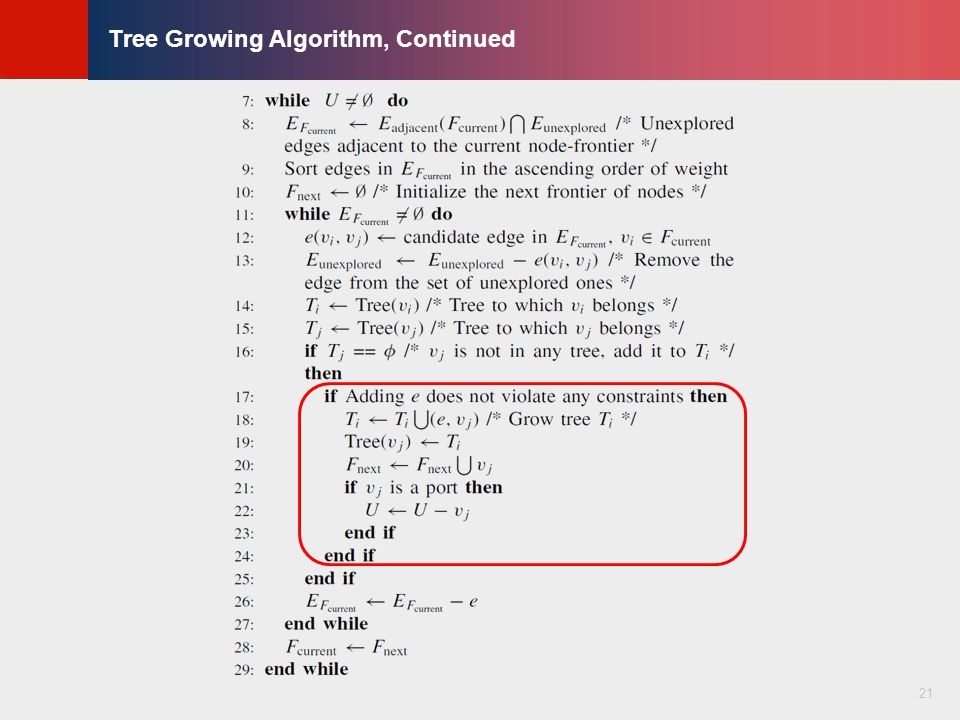 © KLMH Lienig Tree Growing Algorithm, Continued 21