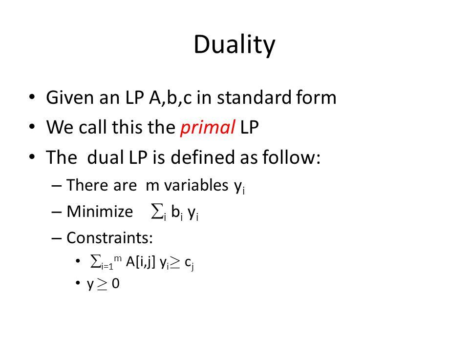 Change of the slack form Choose a nonbasic variable x e with c(e)>0.
