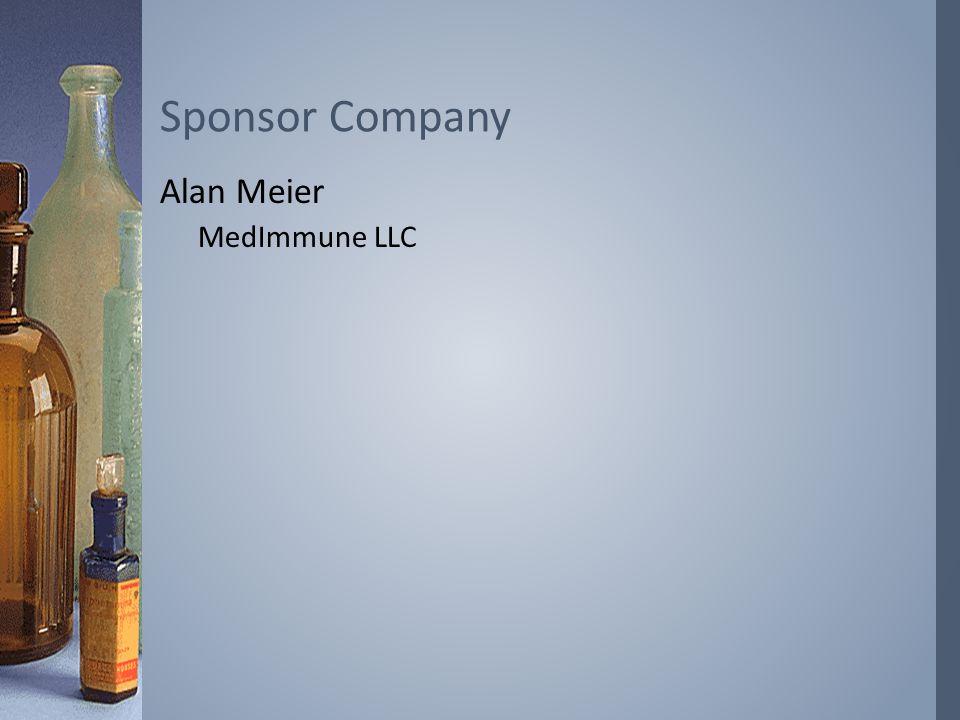 Alan Meier MedImmune LLC Sponsor Company
