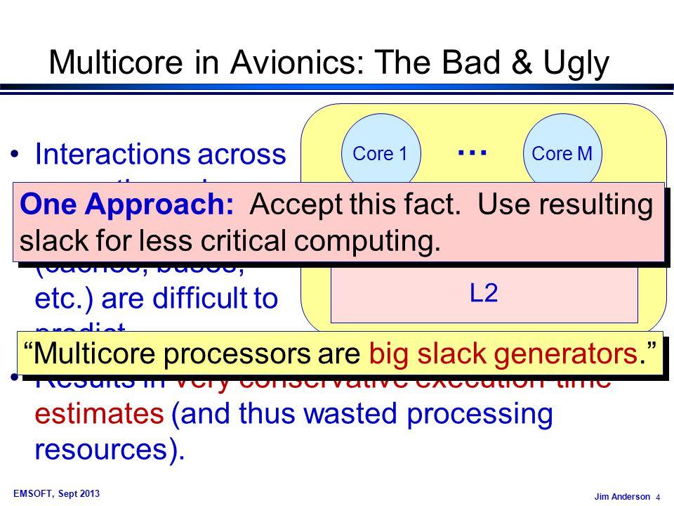 Jim Anderson 75 EMSOFT, Sept 2013 Example Graph Avg. Rel. Response Time, 10% aberrant