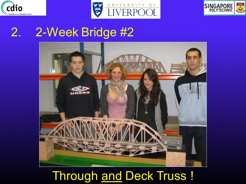 Through and Deck Truss ! 2.2-Week Bridge #2