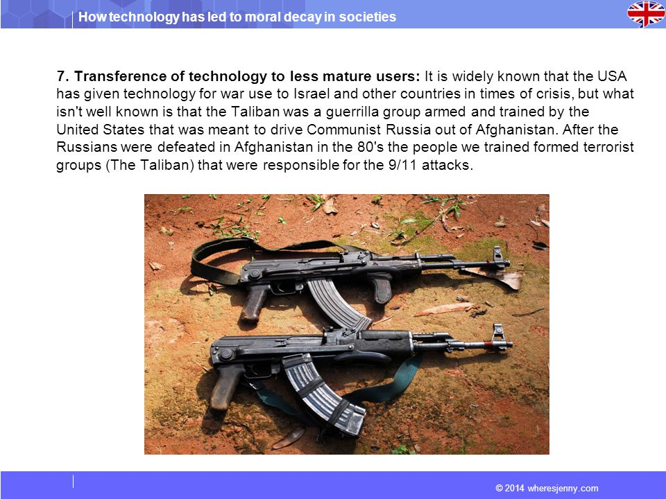 How technology has led to moral decay in societies © 2014 wheresjenny.com 8.