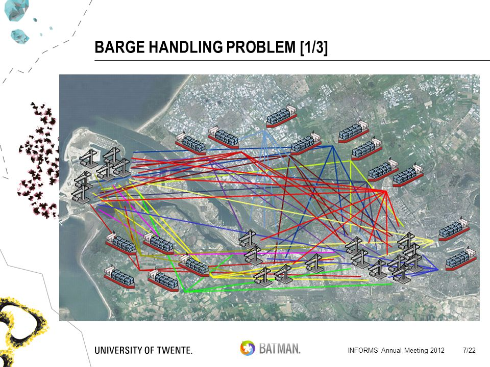 BARGE HANDLING PROBLEM [1/3] Barge Terminals North Sea Terminals INFORMS Annual Meeting 2012 7/22
