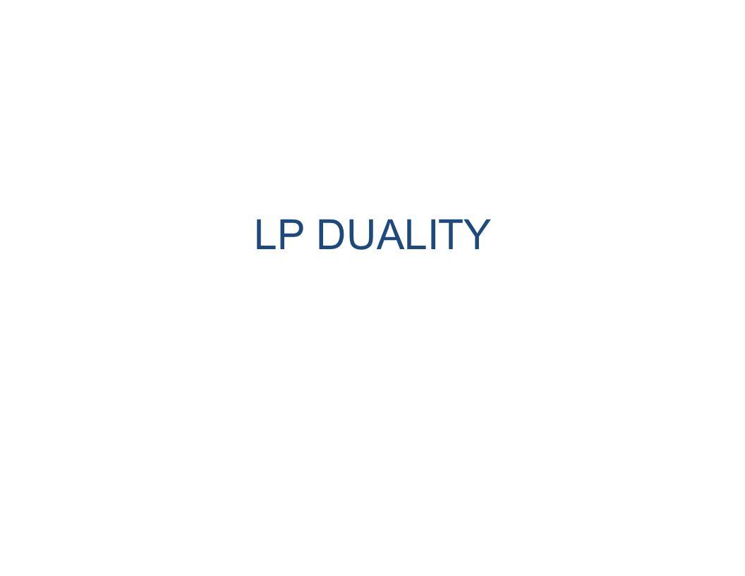 LP DUALITY