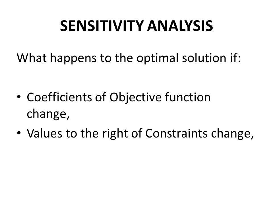 Binding and Non-Binding Constraints Binding constraints have zero slack or zero surplus and vice versa.