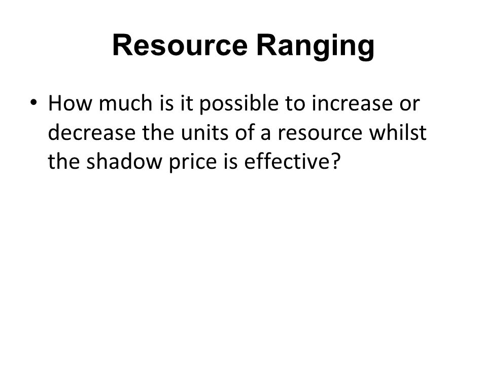 REDUCED COST A decision variable with a positive value in the optimum solution will generally have zero reduced cost.
