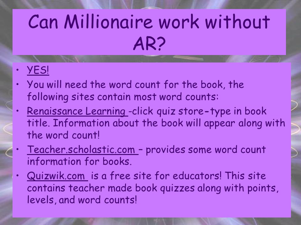 How does AR Word Count work. Using AR management, select a class and choose reports.