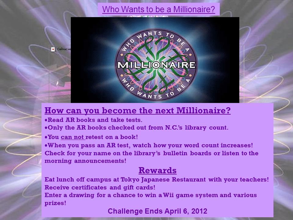 Who Wants to be a Millionaire.How can you become the next Millionaire.