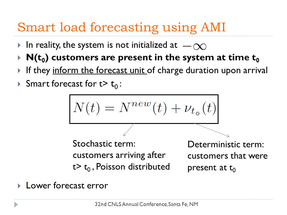 Smart load forecasting using AMI  In reality, the system is not initialized at  N(t 0 ) customers are present in the system at time t 0  If they in