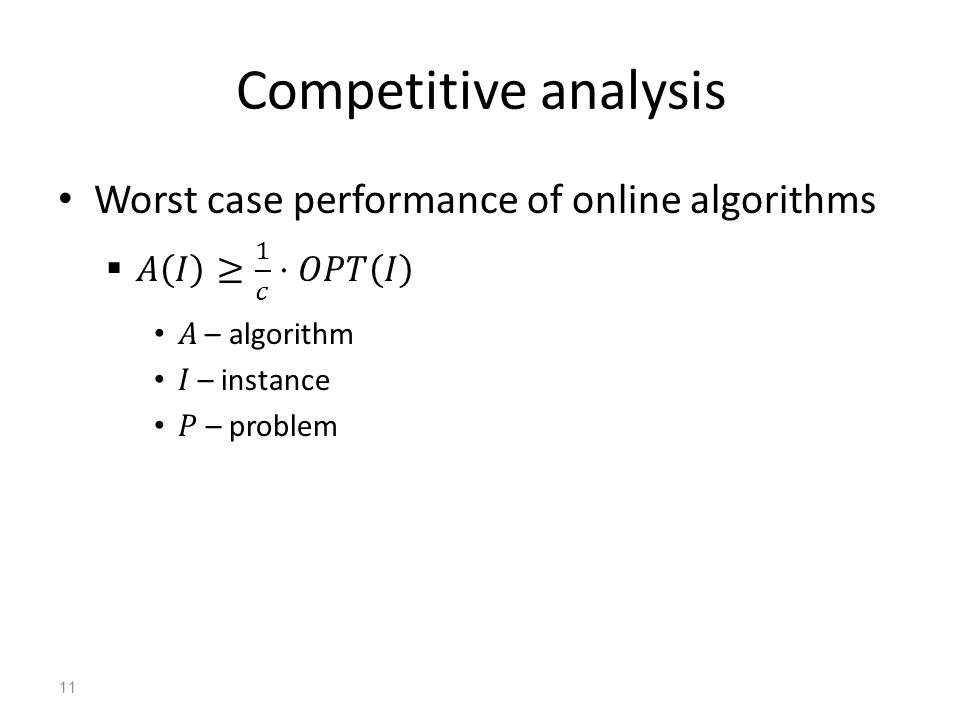 Competitive analysis 11