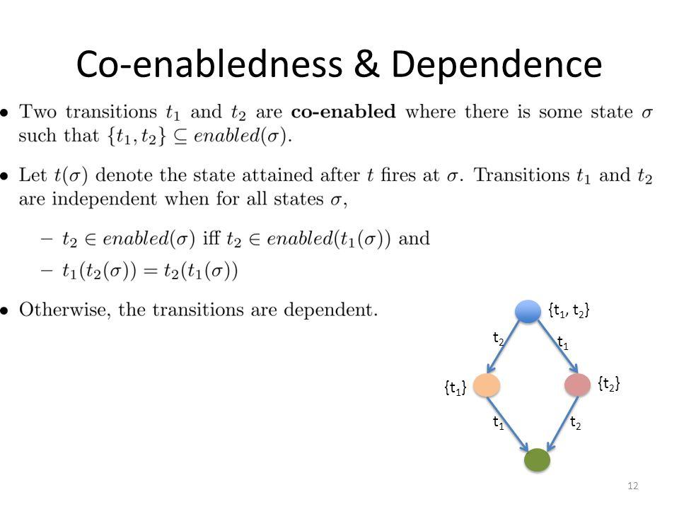 Co-enabledness & Dependence 12 t1t1 t1t1 t2t2 t2t2 {t 2 } {t 1 } {t 1, t 2 }